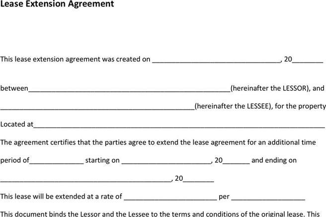 Download Lease Extension Agreement for Free - TidyTemplates - lease extension agreement