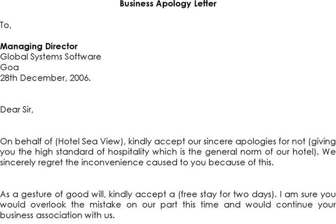 3+ Business Apology Letter Free Download