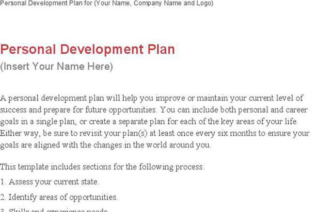 Download Personal Development Plan Sample for Free - TidyTemplates - personal development plan sample
