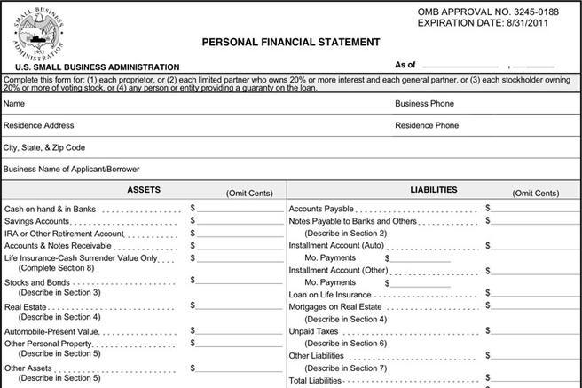 Download Personal Financial Statement Form for Free - TidyTemplates - personal financial statement form