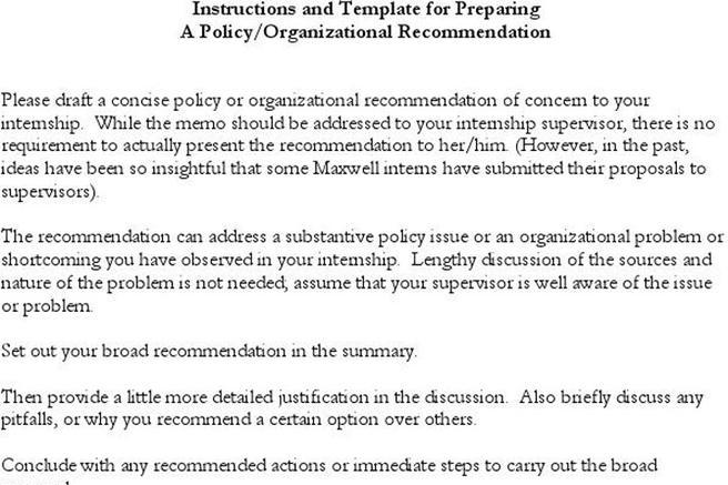3+ Policy Memo Template Free Download