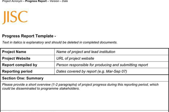 5+ Progress Report Template Free Download