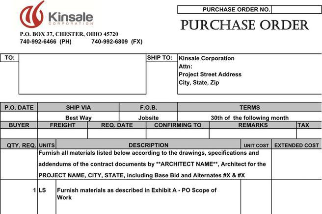 4+ Purchase Order Template Free Download
