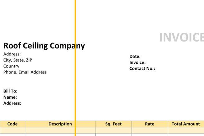4+ Roofing Invoice Templates Free Download