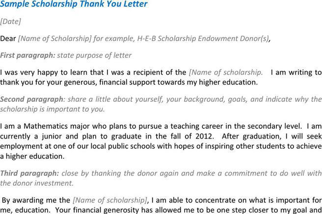 3+ Scholarship Thank You Letter Free Download