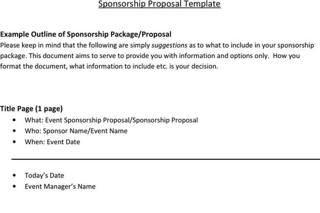 Download Sponsorship Proposal Template for Free - TidyTemplates - sponsorship proposal template