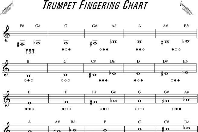 Download Trumpet Fingering Chart for Free - TidyTemplates