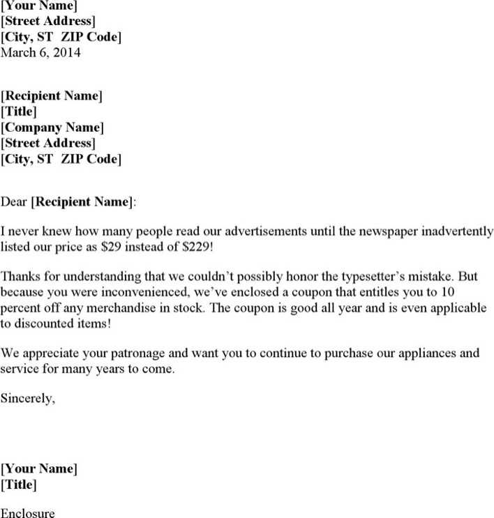 Download Apology Letter for Inconvenience to Valued Customer for