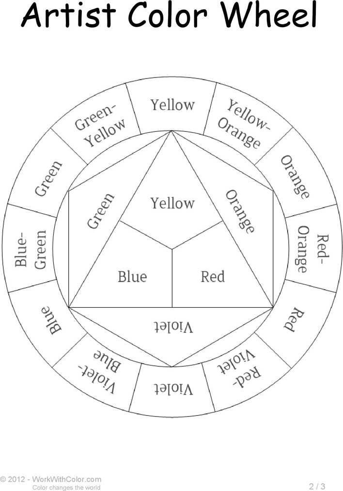 Download Artist Color Wheel Chart Template for Free Page 2