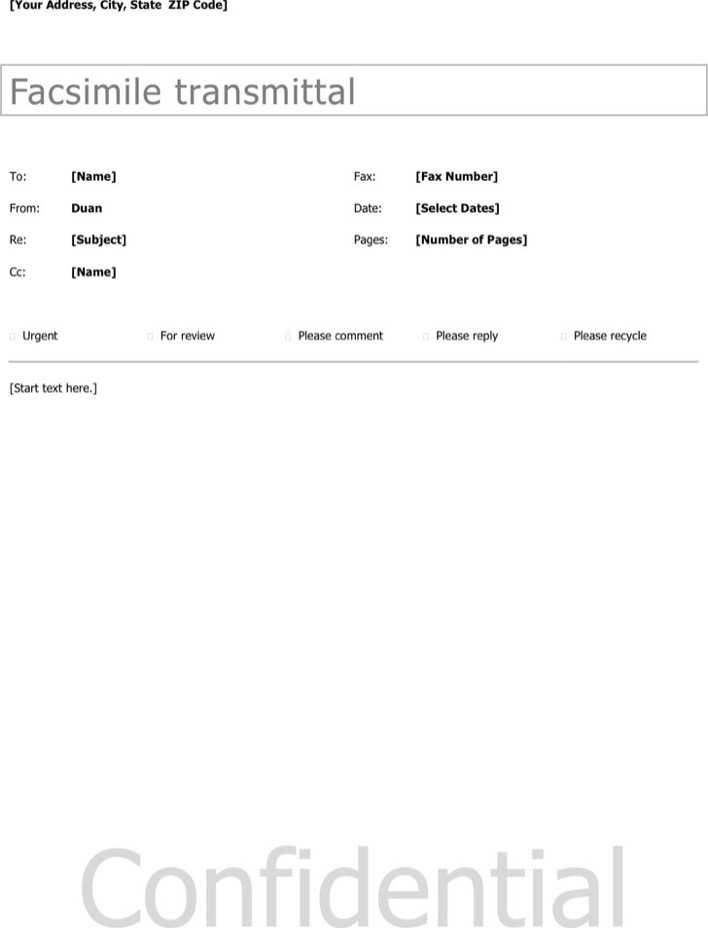 Download Basic Fax Cover Sheet 1 for Free - TidyTemplates