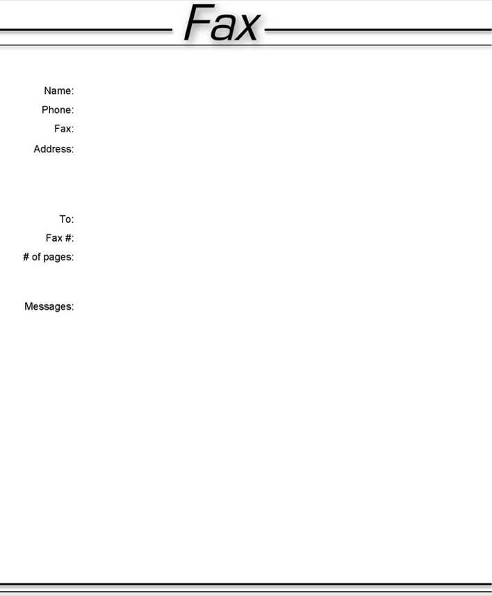 Download Basic Fax Cover Sheet 3 for Free - TidyTemplates