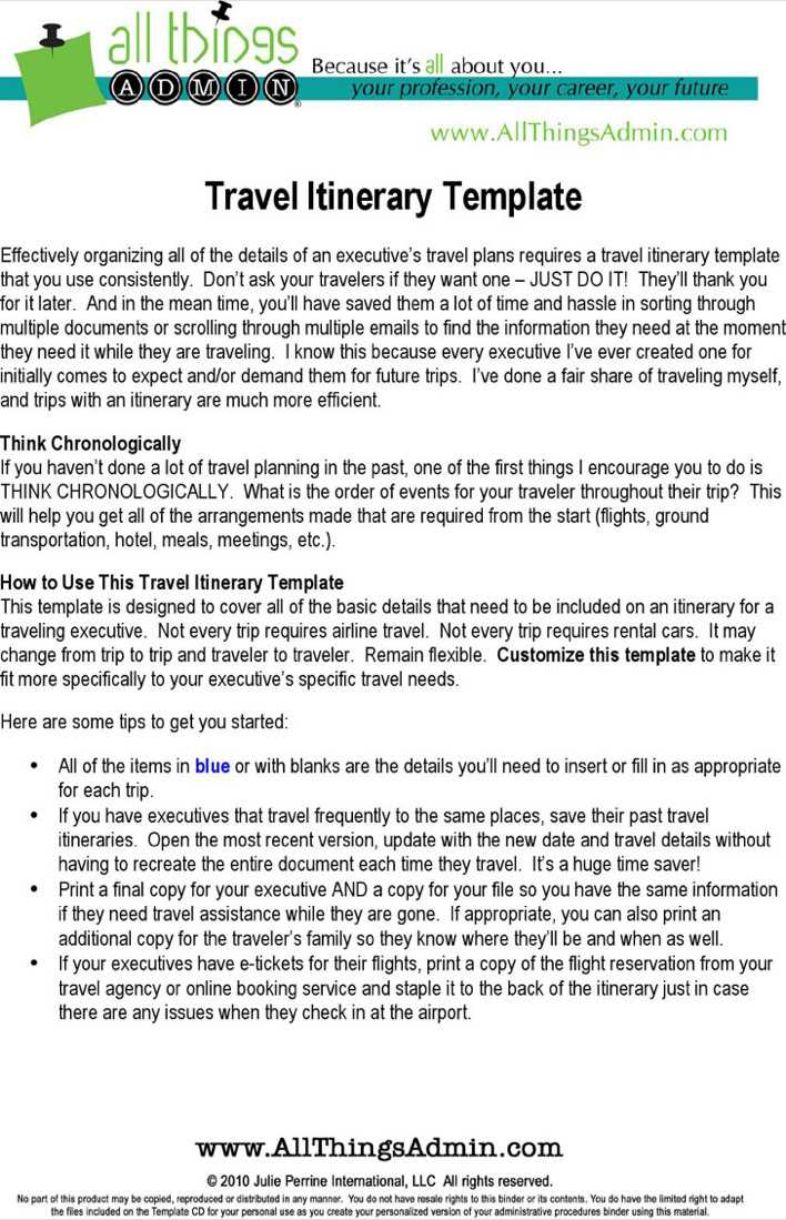 Download Basic Flight Itinerary Template for Free - TidyTemplates