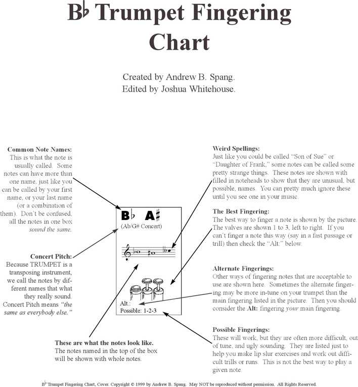 Download Bb Trumpet Fingering Chart For Free Page 3