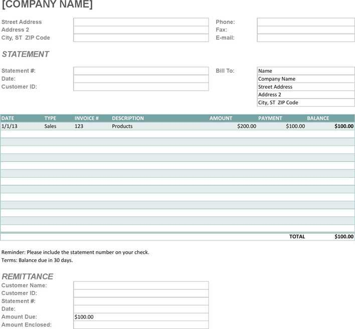 Download Billing Statement Template for Free - TidyTemplates