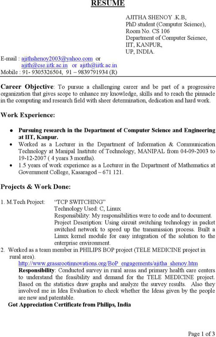 Download BSc Computer Science Resume for Free - TidyTemplates
