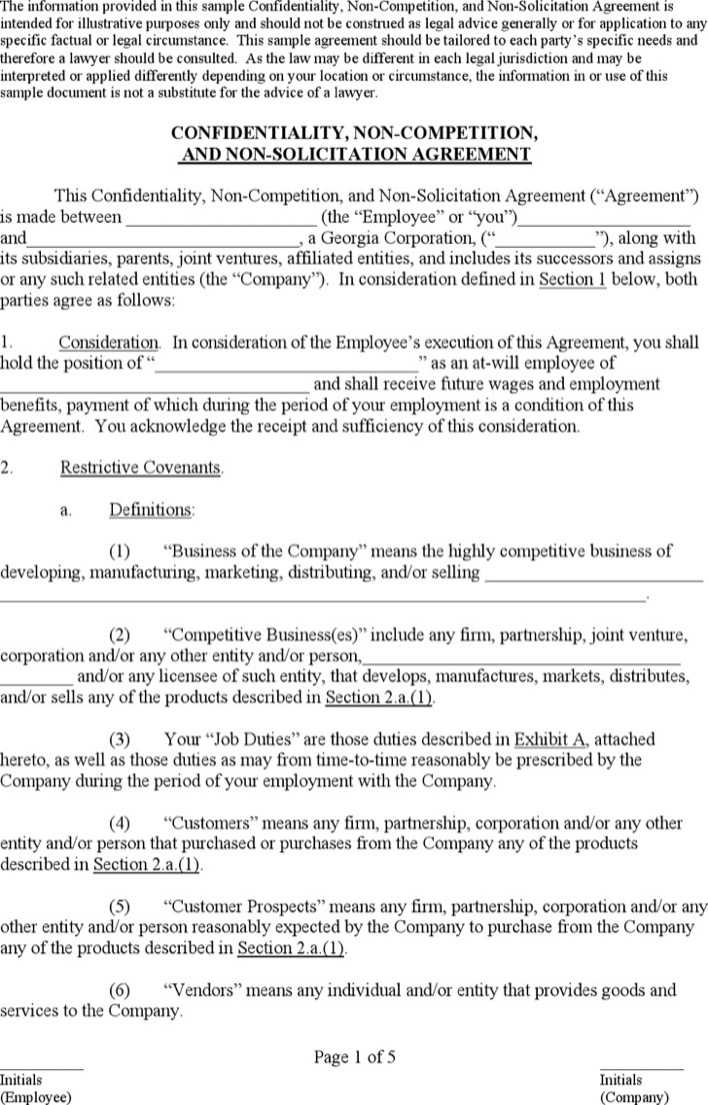 Download Business Non Compete Agreement for Free - TidyTemplates