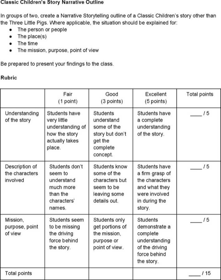 Download Children Story Outline Template for Free - TidyTemplates
