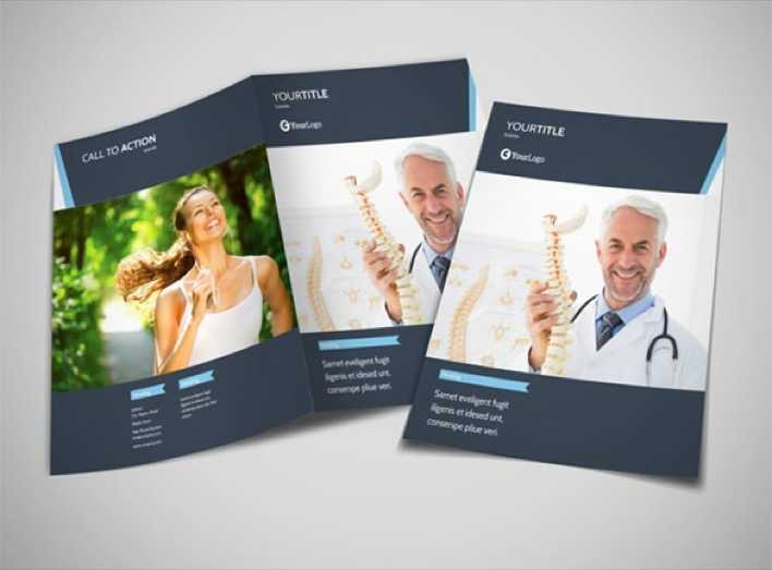 Download Chiropractor Therapy Bi-Fold Brochure Template for Free