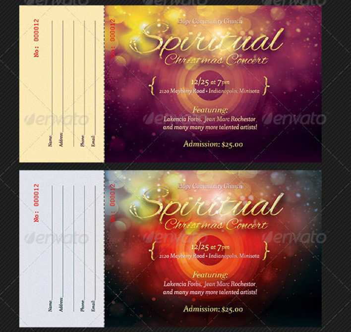 Download Christmas Concert Ticket Design Download for Free