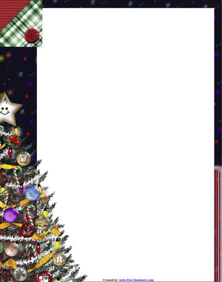 Download Christmas Letterhead Template 3 for Free - TidyTemplates