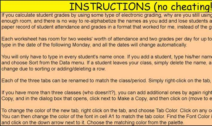 Download Class Attendance Paper for Free Page 5 - TidyTemplates