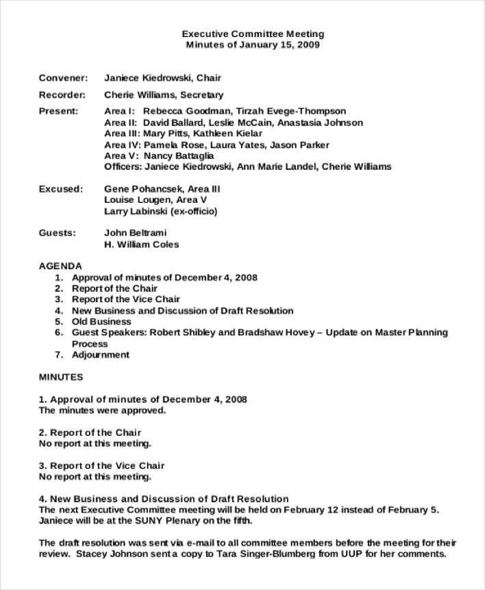 Download Committee Meeting Minutes Template for Free - TidyTemplates