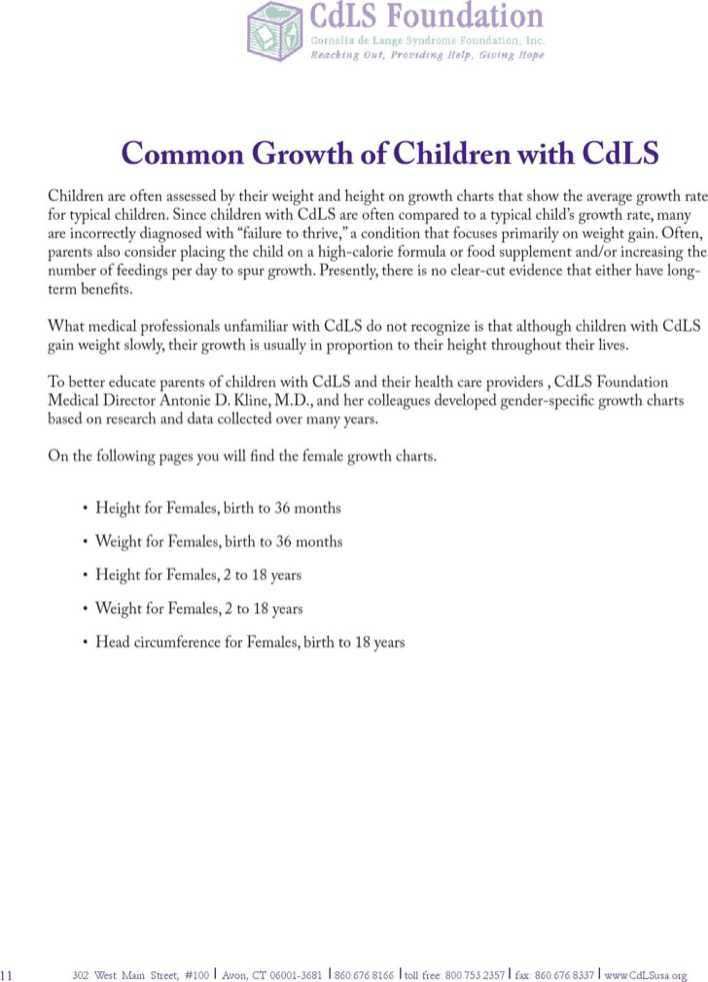 Download Common Growth Chart Template For Baby Girl for Free