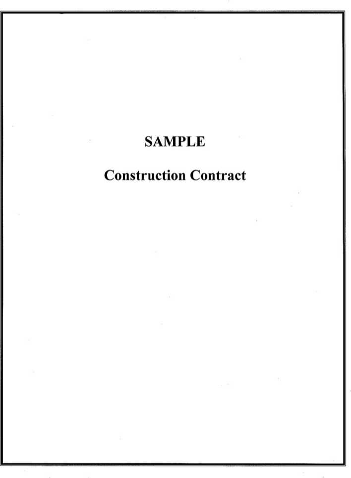 Download Sample Construction Contract for Free - TidyTemplates