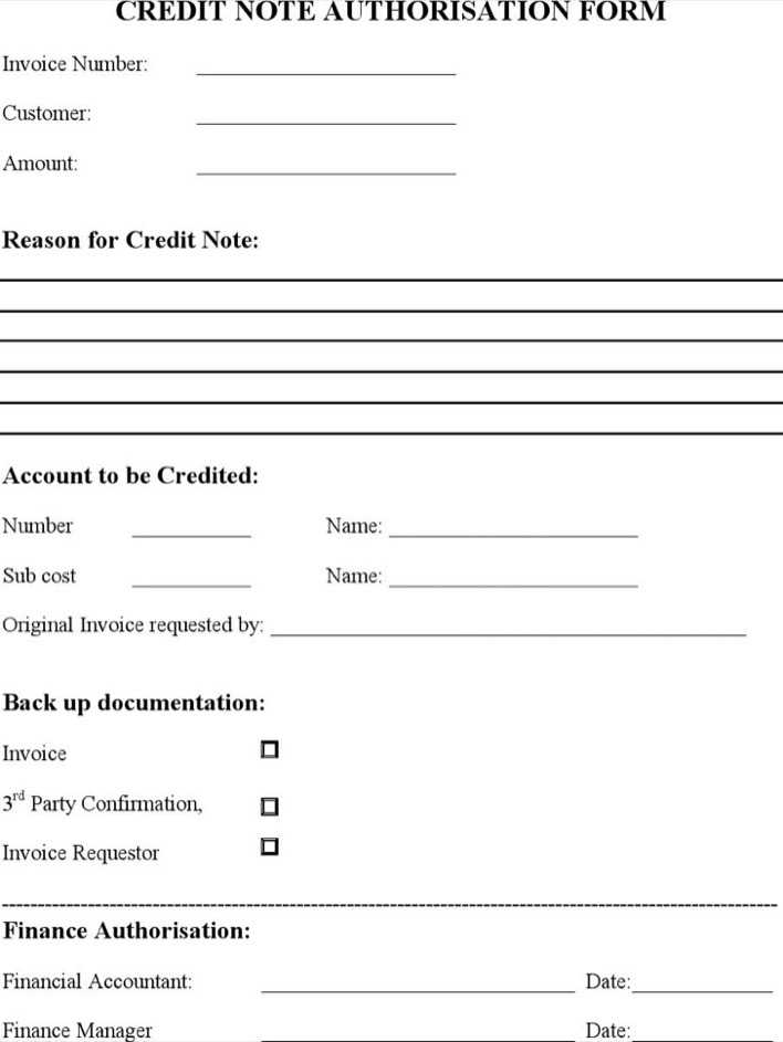 Download Credit Note Template for Free - TidyTemplates