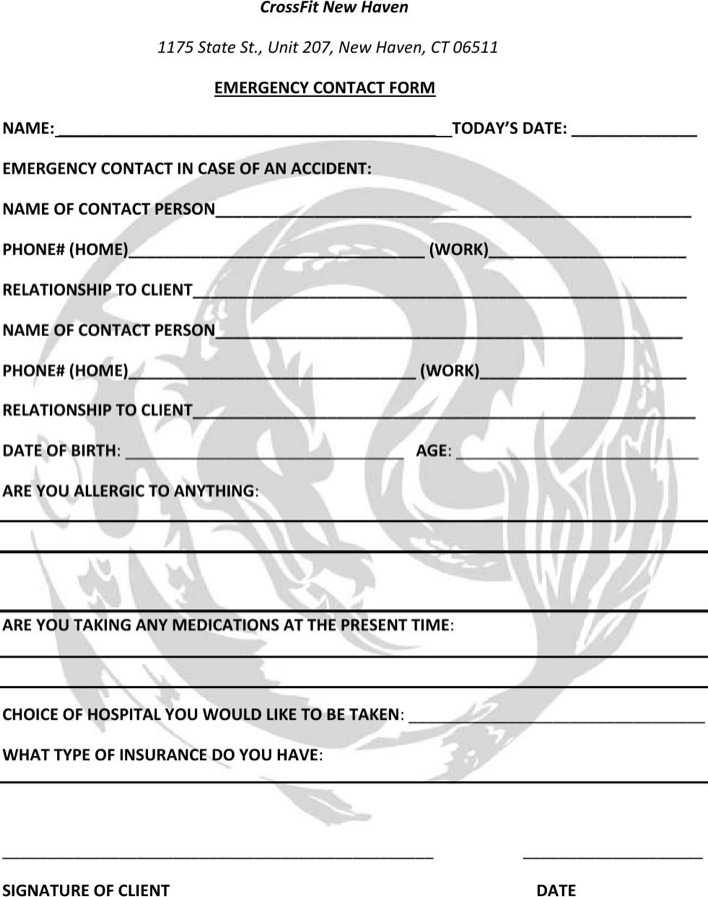 Download Crossfit Gym Contract Template Pdf Printable For Free for