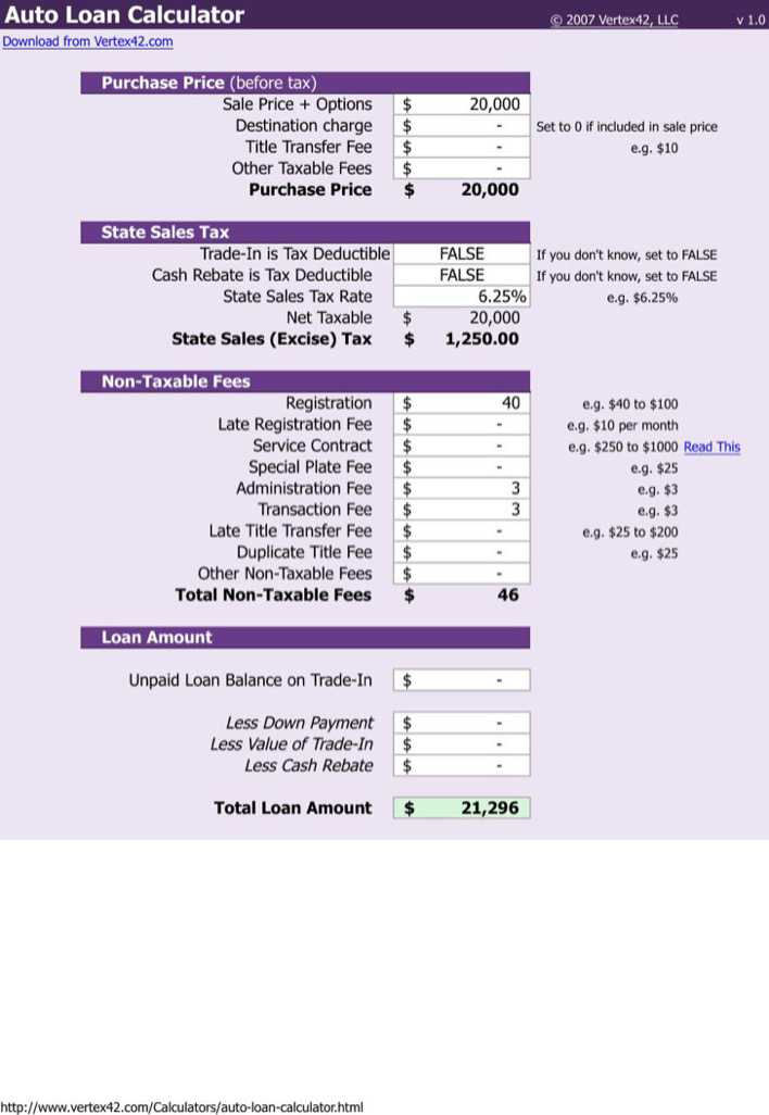 Download Editable Auto Loan Payoff Calculator Schedule Template for