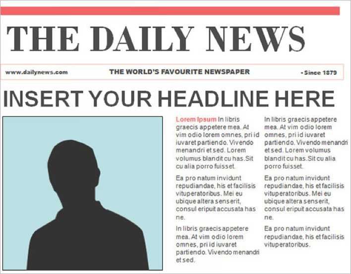 Download Editable PowerPoint Newspaper Template Free for Free