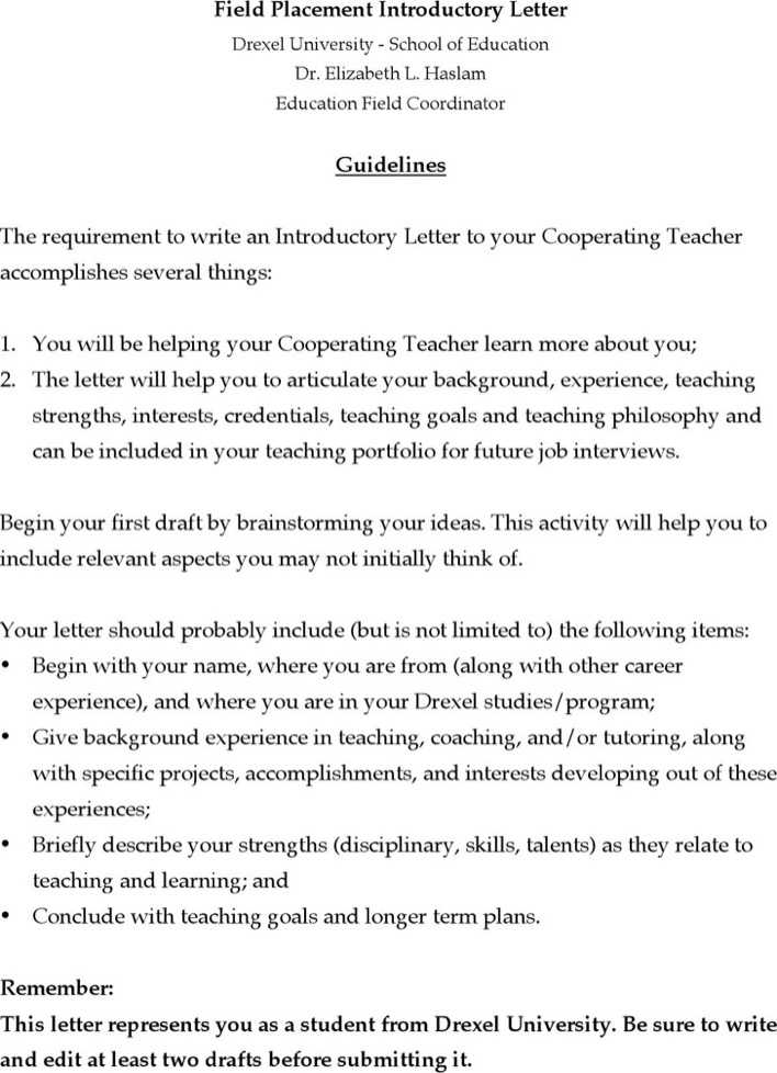 Download Example of Letter of Introduction for Free - TidyTemplates