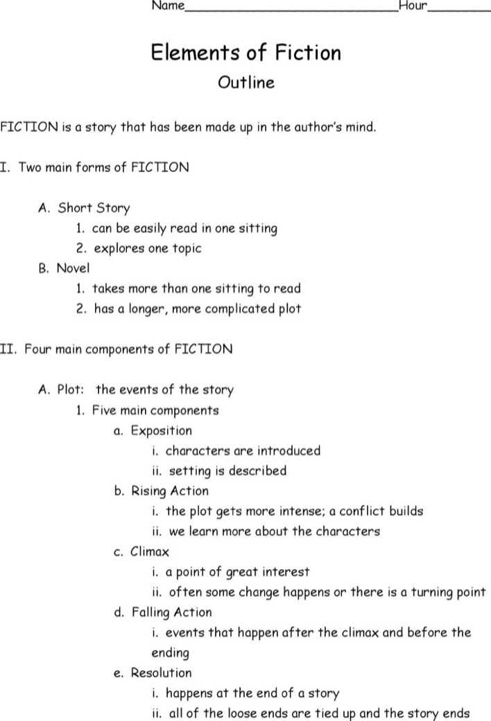 Download Fiction Story Outline Template for Free - TidyTemplates