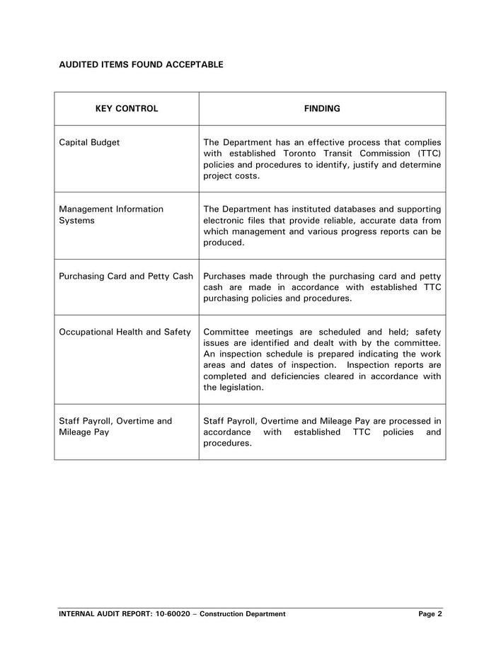 Download Free Download Internal Audit Report Template Pdf for Free