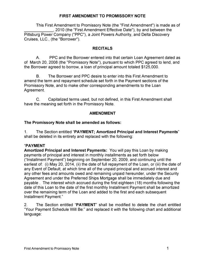Download Free Download Simple Promissory Note Template Word for Free