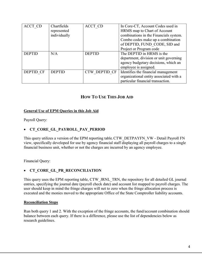 Download General Ledger Payroll Reconciliation Template PDF Format