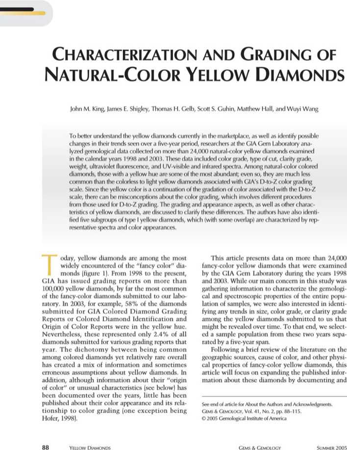 Download Gia Yellow Diamond Color Chart for Free - TidyTemplates