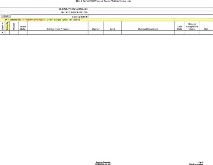 Download Good Action Log Template for Free - TidyTemplates