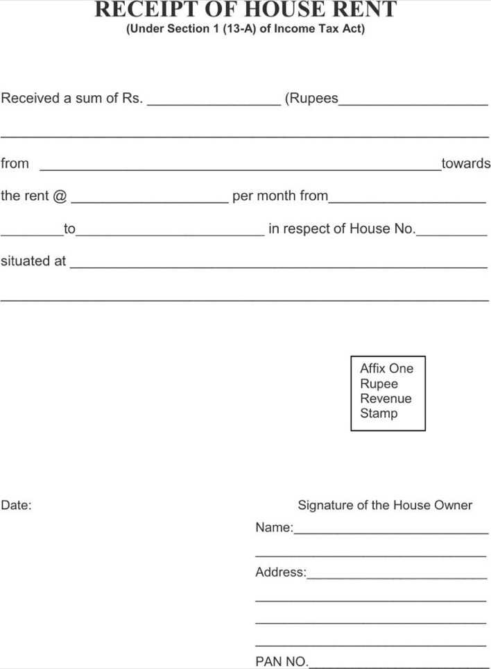 Download House Rent Receipt Template for Free - TidyTemplates