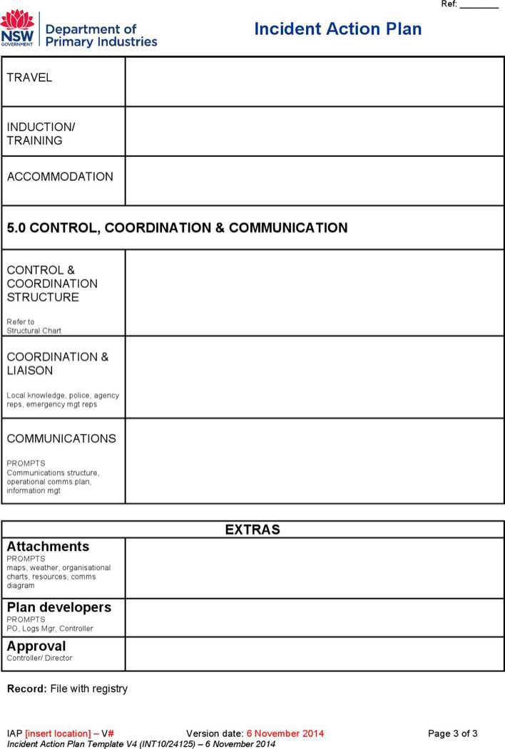 Download Incident Action Plan Template for Free Page 3 - TidyTemplates