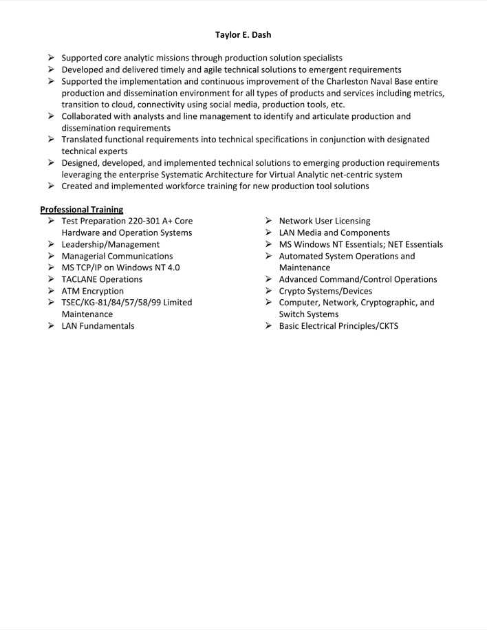 Download Information Technology Specialist Resume Sample for Free