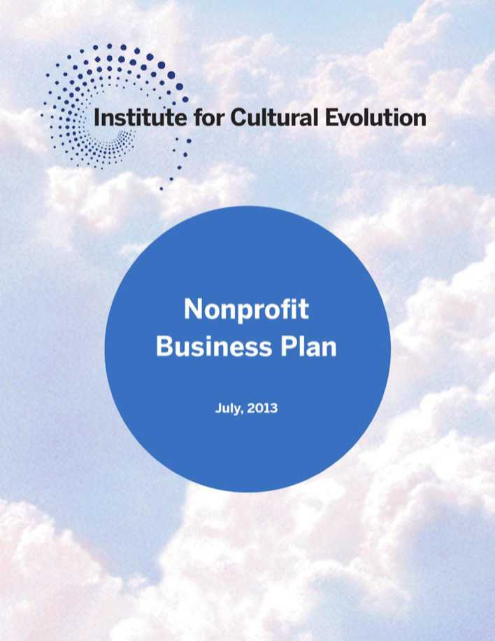 Download Institute For Cultural Evolution Nonprofit Business Plan
