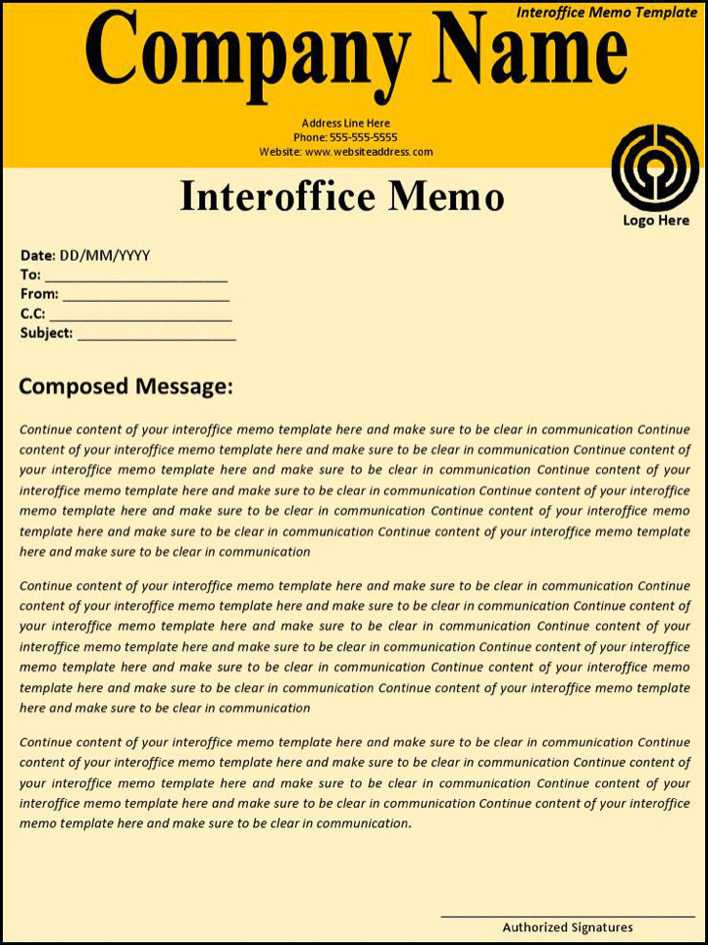 Download Interoffice Memo Template for Free - TidyTemplates