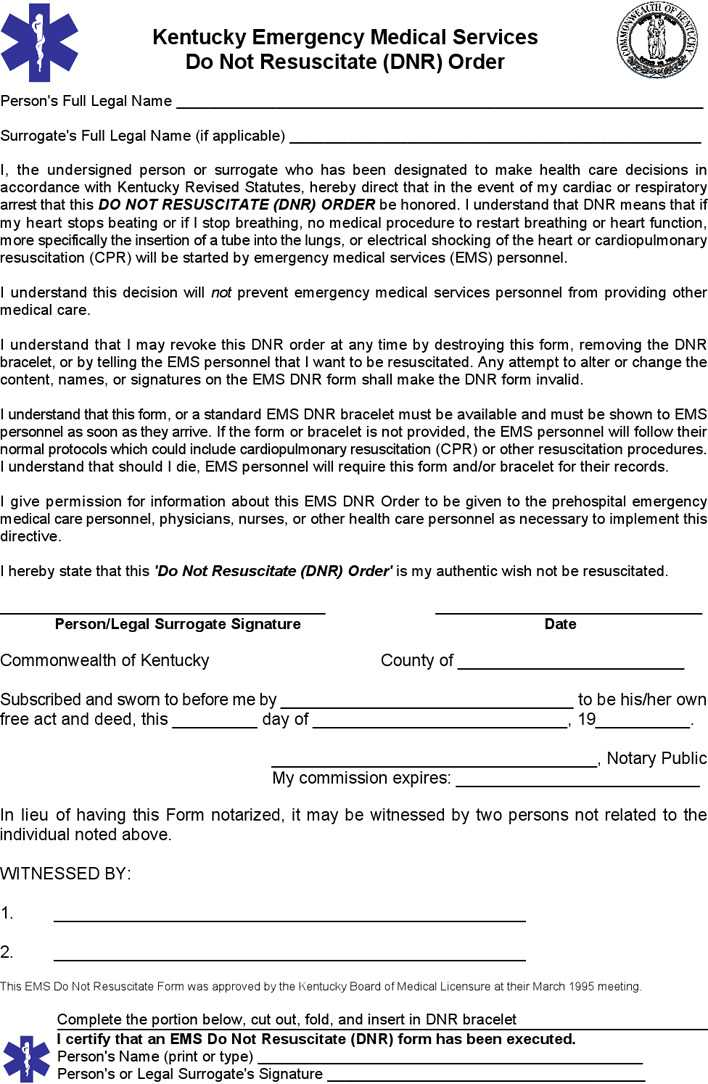 Download Kentucky Advance Health Care Directive Form 2 for Free