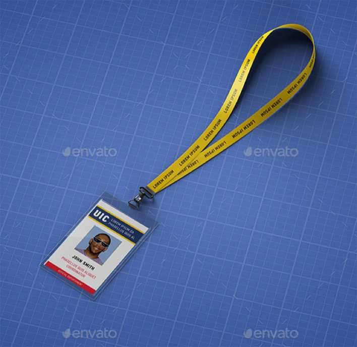 Download Lanyard ID Card PSD Template for Free - TidyTemplates