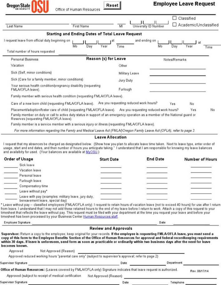 Download Employee Leave Request Form for Free - TidyTemplates