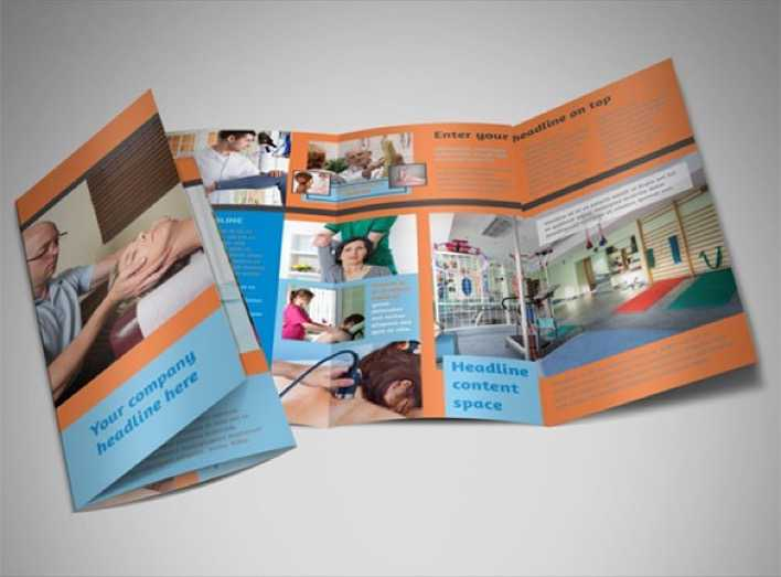 Download Massage  Chiropractic Office A4 Tri Fold Brochure Template