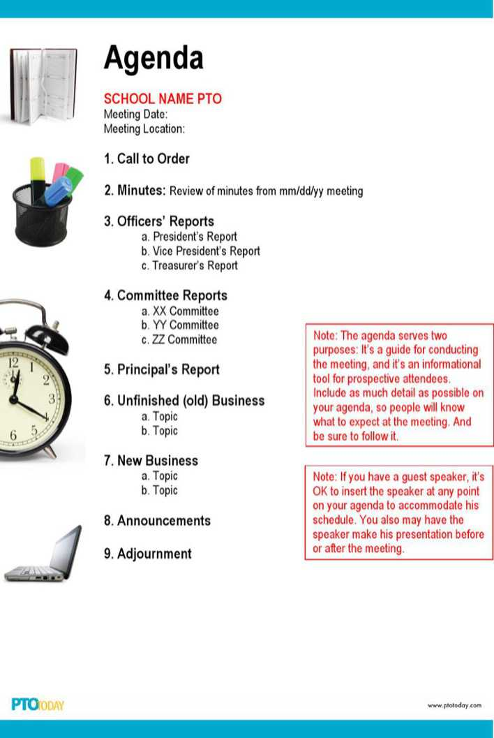 Download Microsoft Meeting Agenda Outline for Free - TidyTemplates