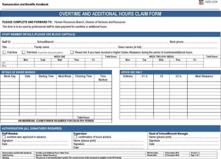Download Microsoft Word 2010 Overtime Sheet Template Download for